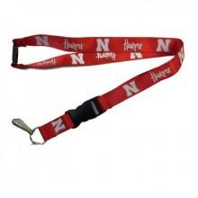NCAA Nebraska Cornhuskers Team Color Breakaway Lanyard Key Chain