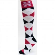 Nebraska Cornhuskers White  Argyle Dress Socks