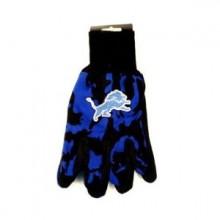 Detroit Lions Team Color Camo  Utility Gloves