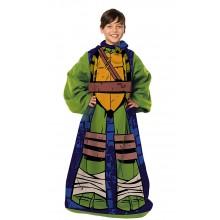 Teenage Mutant Ninja Turtles Character YOUTH Fleece Throw Blanket With Sleeves