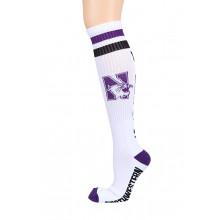 Northwestern Wildcats White Tube Socks