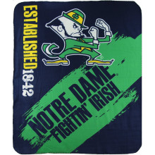 NCAA Officially Licensed Notre Dame Fightin' Irish College Varsity Fleece Throw Blanket