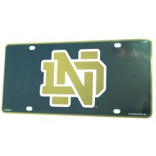 Notre Dame Fighting Irish Aluminum License Plate