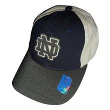 Notre Dame Navy Adult Flex Slouch Fit Hat Cap Lid (L/XL)