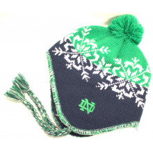 Notre Dame Fighting Irish Snowflake Pom Tassel Beanie