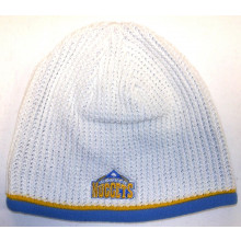 Denver Nuggets White Waffle Knit Fleece Lined Beanie