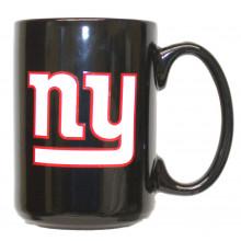 New York Giants 15 oz Black Ceramic Coffee Cup