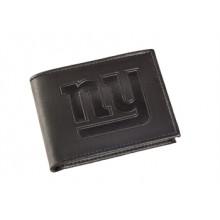 New York Giants Black Leather Bi-Fold Wallet