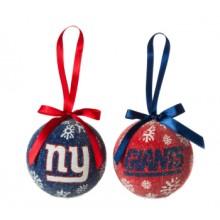 New York Giants LED Ball Ornaments Set of 6