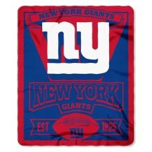 "New York Giants 50"" x 60"" Marque Fleece Throw Blanket"
