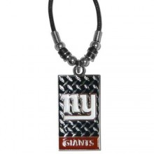 New York Giants Diamond Plate Rope Necklace, 20-Inch