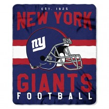 "New York Giants 50"" x 60"" Singular Fleece Throw Blanket"