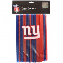New York Giants 100 Count Team Color Straws