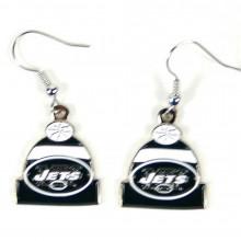 New York Jets Beanie Style Dangle Earrings
