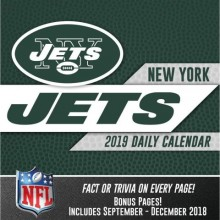 New York Jets 2019 Boxed Desk Calendar