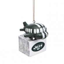 New York Jets Tiki Mascot Ornament