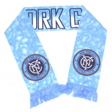 MLS NYC Football Club Sublimated Fringed Scarf