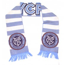 MLS NYC Football Club Thick Stripe Fringed Scarf