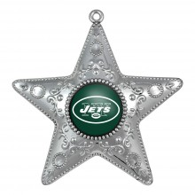 "New York Jets 4"" Silver Star Ornament"