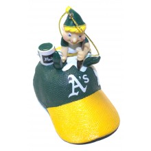 Oakland Athletics Elf Painting Ornament