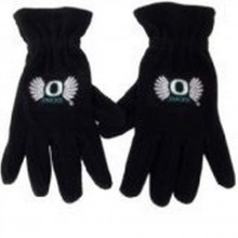 NCAA Officially Licensed Oregon Ducks Embroidered Fleece Gloves (Black with Wings)