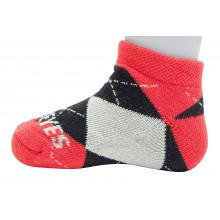 Ohio State Buckeyes Baby Argyle No Show Socks
