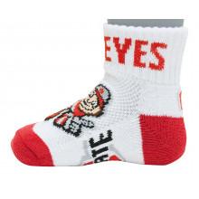 Ohio State Buckeyes Baby Quarter Socks
