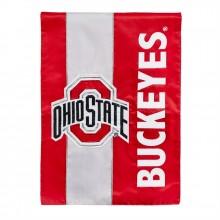 Ohio State Buckeyes Embellish House Flag