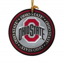 Ohio State Buckeyes Ceramic Mini Plate Ornament