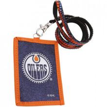 Edmonton Oilers Beaded Lanyard I.D. Wallet