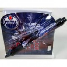 Edmonton Oilers Stationery Desk Caddy with Matching Ballpoint Grip Pen