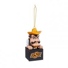 Oklahoma State Cowboys Tiki Mascot Ornament