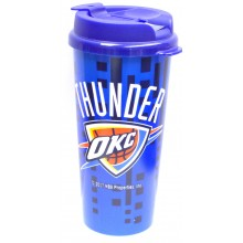 OKC Thunder 16-ounce Insulated Travel Mug