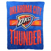 NBA OKC Thunder Super Plush Fleece Throw Blanket