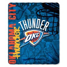 NBA OKC Thunder Hardknocks Fleece Throw Blanket