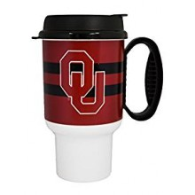 NCAA Oklahoma Sooners 20 oz Insulated Travel Tumbler with Lid