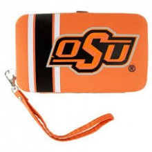 "Oklahoma State University Distressed Wallet Wristlet Case (3.5"" X .5"" X 6"")"