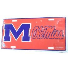 Ole Miss Rebels Aluminum License Plate