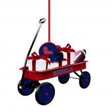 Ole Miss Rebels Team Wagon Ornament