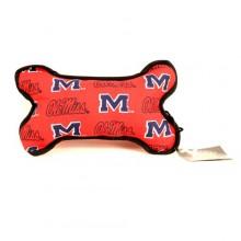 Ole Miss Rebels Squeeky Dog Bone Toy