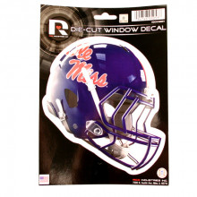 """Ole Miss Rebels 6"""" Helmet Die-Cut Window Decal"""