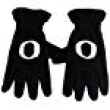 NCAA Oregon Ducks Men's Fleece Gloves with O, Black