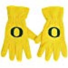 NCAA Oregon Ducks Men's Fleece Gloves with O, Yellow