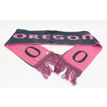 NCAA Licensed Oregon Ducks Pink and Gray Fringed Scarf