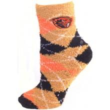 Oregon State Beavers Argyle Fuzzy Lounge Socks