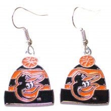 Baltimore Orioles Beanie Dangle Earrings