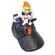 Baltimore Orioles Elf Painting Ornament