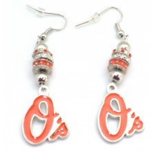 Baltimore Orioles Euro Bead Earrings