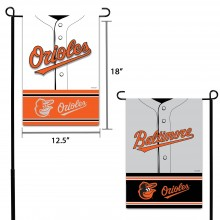 Baltimore Orioles 2 Sided Suede Foil Garden Flag