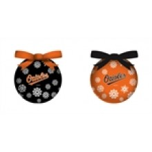 Baltimore Orioles  LED Ball Ornaments Set of 2